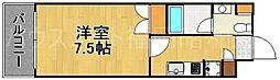 ダイナコートブロッサム天神南[6階]の間取り