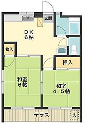 ニューナッツマンション[1階]の間取り