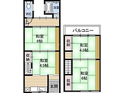 [一戸建] 大阪府大阪市鶴見区諸口3丁目 の賃貸【/】の間取り