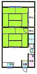 和歌山県御坊市湯川町財部の賃貸アパートの間取り