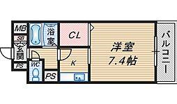 ラディアンス・ドゥ[602号室]の間取り