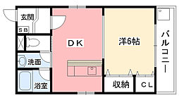ドムール甲子園[2階]の間取り