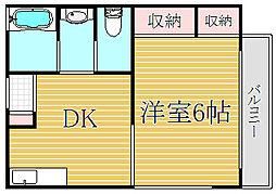 わたなべマンション[2階]の間取り