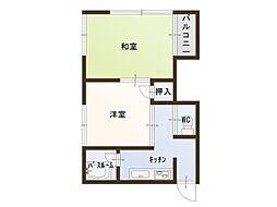 山田ハイツ[6号室]の間取り