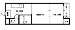 ハイクレスト橋本[6階]の間取り