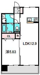 Osaka Metro谷町線 大日駅 徒歩5分の賃貸マンション 1階1LDKの間取り