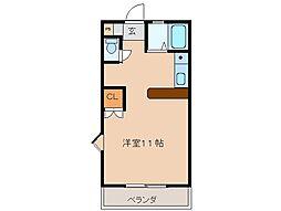 三重県松阪市駅部田町の賃貸マンションの間取り