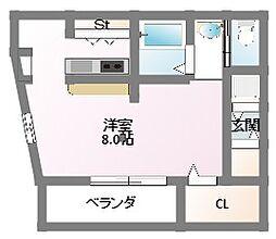 大阪府門真市本町の賃貸アパートの間取り