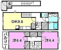 ニューカーサS A棟・B棟[2201 号室号室]の間取り
