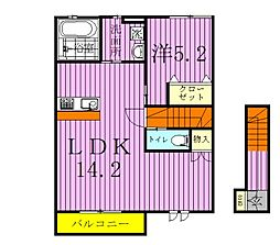 仮称)松戸市千駄堀新築住宅 2階2LDKの間取り