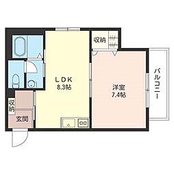 エスクード[1階]の間取り
