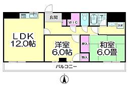 プルミエール竹ノ塚[706号室]の間取り