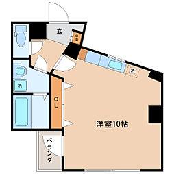 仙台市営南北線 仙台駅 徒歩10分の賃貸マンション 4階ワンルームの間取り