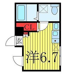 仮称 王子一丁目マンションA棟 4階ワンルームの間取り