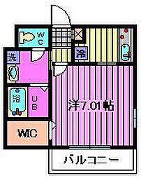 埼玉県さいたま市見沼区大和田2丁目の賃貸アパートの間取り