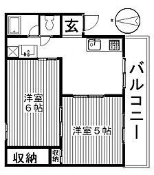 ドミールA[102号室号室]の間取り