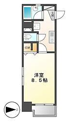 X−OVER21覚王山[6階]の間取り