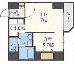 レジデンスタワー札幌[7階]の間取り