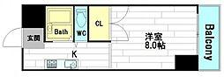 奥内阿波座駅前マンション[4階]の間取り