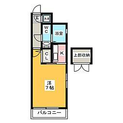 エステートモア祇園[2階]の間取り