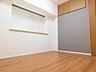 アクセントクロスがオシャレな寝室。 上部に収納も完備,2LDK,面積59.84m2,価格2,780万円,JR南武線 矢川駅 徒歩3分,JR南武線 西国立駅 徒歩18分,東京都国立市富士見台4丁目