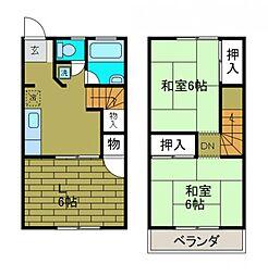[テラスハウス] 神奈川県相模原市中央区相生2丁目 の賃貸【/】の間取り