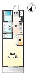 木更津市真舟5丁目新築アパート[206号室]の間取り