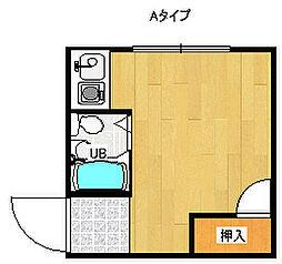 アクティブ岸里[2階]の間取り