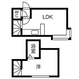 北海道札幌市中央区南九条西13丁目の賃貸アパートの間取り
