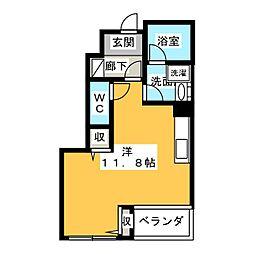 ロベリアチャコ[1階]の間取り