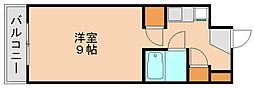 コンドミニアム箱崎[4階]の間取り
