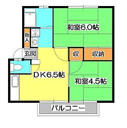 西川ハイツ1[2階]の間取り
