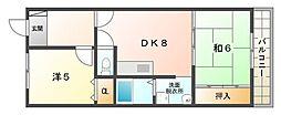 レジデンス鶴見緑地[7階]の間取り