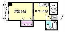 第二博多駅東コーポ[2-H号室]の間取り