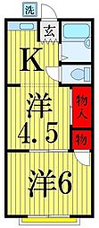 TKハウス2[206号室]の間取り