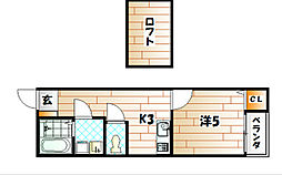ケイ・エスパシオ曽根[1階]の間取り