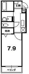 パル21[3階]の間取り