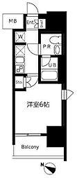 東京都品川区大井4丁目の賃貸マンションの間取り