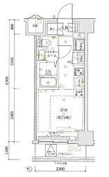 ルミード横浜阪東橋[9階]の間取り