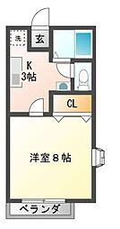 静岡県三島市幸原町2丁目の賃貸アパートの間取り