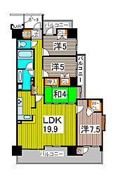 シャリエ川口本町グリーンマークス[7階]の間取り