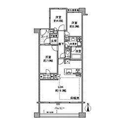 ノブレス新百合ヶ丘フォレストハウス[4階]の間取り
