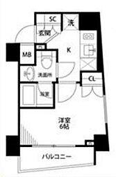 プレール・ドゥーク横濱紅葉坂 3階1Kの間取り