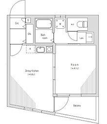 キャッスルマンション松戸[5階]の間取り