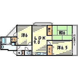 アルティオーレ甲東園[4階]の間取り
