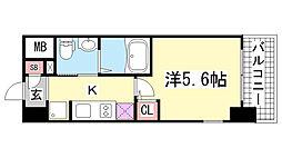エスリード神戸WEST[901号室]の間取り