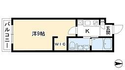 仮)小山新築マンション 2階1Kの間取り