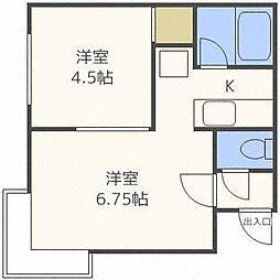 フラリッシュII[3階]の間取り