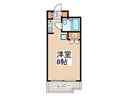 東京都府中市宮西町5の賃貸マンションの間取り