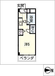 シャトー岐大 B棟[2階]の間取り
